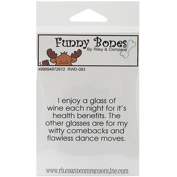 NOTM497367 - Riley & Company Funny Bones Cling Mounted Stamp 2.5
