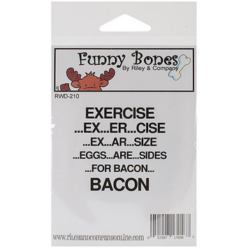 Riley & Company RWD210 Riley & Company Funny Bones Cling Mounted Stamp 2.25 in. X2 in. -Exercise