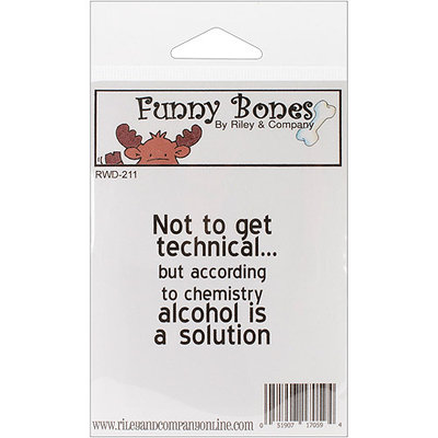 Riley & Company RWD211 Riley & Company Funny Bones Cling Mounted Stamp 1.25 in. X1.75 in. -Not To Get Technical
