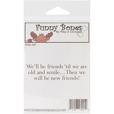 NOTM348448 - Riley & Company Funny Bones Cling Mounted Stamp 3