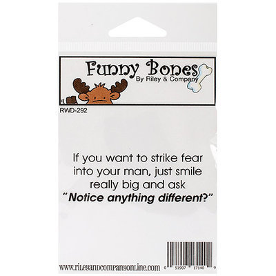 Riley & Company Funny Bones Cling Mounted Stamp 2.75