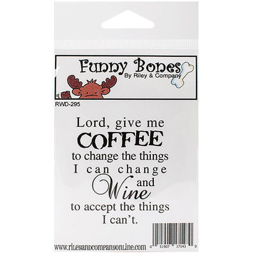 Riley & Company Funny Bones Cling Mounted Stamp 2.25