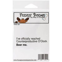 Riley & Company Funny Bones Cling Mounted Stamp 3