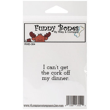 Riley & Company Funny Bones Cling Mounted Stamp 1.5