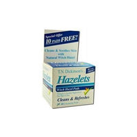 T.N. Dickinson: Witch Hazel Cleansing Pads w/ Aloe, 50 Hazelets Pads