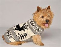 Chilly Dog Reindeer Shawl Handmade Sweater - Small