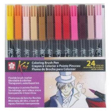 Koi XBR-24SA 24-Color Set Coloring Brush Pen