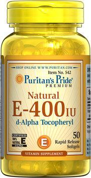 Puritan's Pride 2 Units of Vitamin E-400 iu 100% Natural-50-Softgels