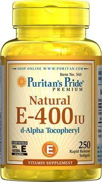 Puritan's Pride 2 Units of Vitamin E-400 iu 100% Natural-250-Softgels