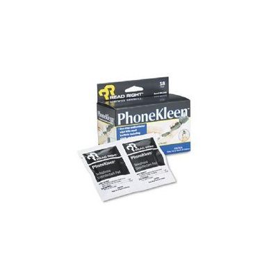 Read-Right REARR1203 Phone Kleen Wipes- Pre-Moistened