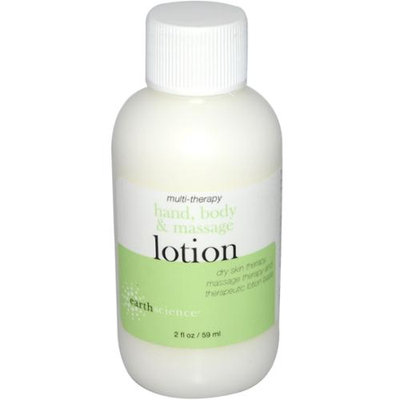 Earth Science - Body and Massage Travel Size Lotion Multi-Therapy Fragrance Free - 2 oz.