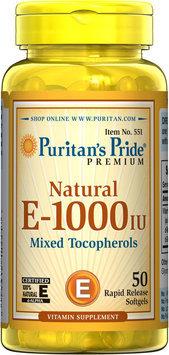 Puritan's Pride 3 Units of Vitamin E-1000 IU Mixed Tocopherols Natural-50-Softgels