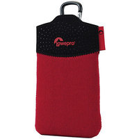 Lowepro Tasca 20 Camera Pouch - 5.9 x 3.7 x 0.5 - Neoprene - Red, Black