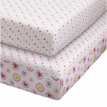 Storkcraft Pattern Play 2 Piece Fitted Crib Sheet Set