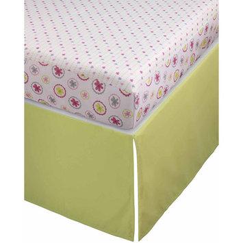 Storkcraft Stork Craft Pattern Play Crib Sheets and Skirt Collection, Pink/Gray Sheets & GCrib Skirt Crib Skirt Color: Green