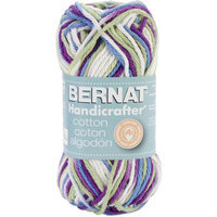 Bernat Handicrafter Cotton Yarn Ombres & Prints-Petunia