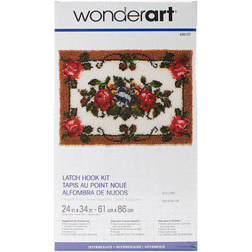 Latch Hook Kit, Elegant Roses by Wonderart