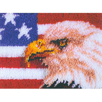 Latch Hook Kit, American Eagle by Wonderart