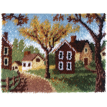 Latch Hook Kit, Country Cottages by Wonderart