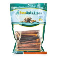 Best Bully Sticks 6 Inch Standard Made in the USA Bully Sticks - 25 Pack