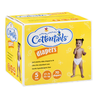 Ahold Cottontails Diapers 5 Size (27+ lb) - 70 CT