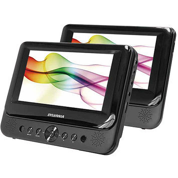 Sylvania SDVD8737 7-inch Dual Screen Portable DVD Player - 16:9 - SDVD8738