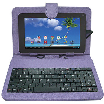 Proscan PLT7223G-K8G-PURPLE Internet Tablet PC with Case, Keyboard - 1.2 GHz Processor - 512MB RAM - 8GB Storage - 7.0-inch Display - Android 4.1 Jelly Bean - Blue