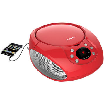Sylvania Srcd261-b-red Portable Cd Player With Am/fm Radio [red]
