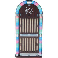 Sylvania Srcd806 Classic Wooden Jukebox Am/fm Radio With Bluetooth[r]