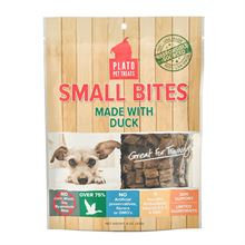 Plato Pet Treats Plato Small Bites Duck Dog Treats