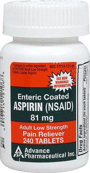Otc Low Dose Aspirin Enteric Coated 240 Coated Tablets