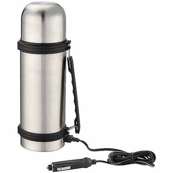 Koolatron 402401 12V Bottle Thermos with 12 V Power Outlet Plug Insulated Serving Cup Lid and Double Wall Vacuum Insulation in
