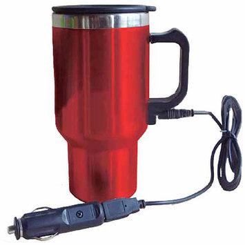 Koolatron 402425 12V USB Travel Mug with Ergonomic Design Double Wall Vacuum Insulation and Heat-retaining Air-tight Lid in