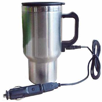 Koolatron 402432 12V USB Travel Mug with Ergonomic Design Double Wall Vacuum Insulation and Heat-retaining Air-tight Lid in
