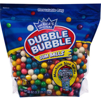 Double Bubble Dubble Bubble Assorted Fruit Flavored Gum Balls