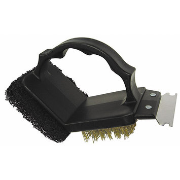 GrillPro 77350 2-Way Grill Brush with Scrubber