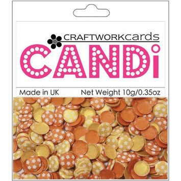 Craftwork Cards CW72 Candi Dot Embellishments .35oz-Sunsest Strip