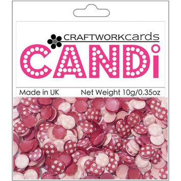 Craftwork Cards CW74 Candi Dot Embellishments .35oz-Passionista