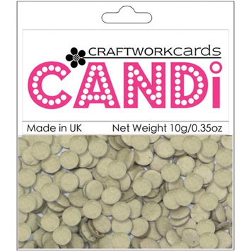 Craftwork Cards CW88 Candi Chipboard Dot Embellishments .35oz-Chips