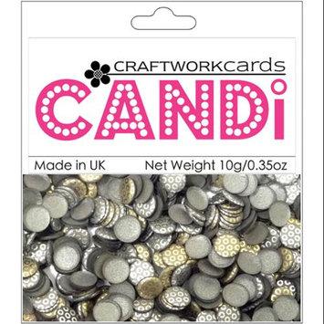 Craftwork Cards CW26 Candi Dot Embellishments .35oz-Metallique - Steel