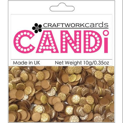 Craftwork Cards CW29 Candi Dot Embellishments .35oz-Metallique - Copper
