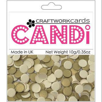 Craftwork Cards CW33 Candi Dot Embellishments .35oz-Texture Gold