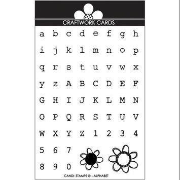 Craftwork Cards Candi Stamps-Alphabet - Upper & Lowercase