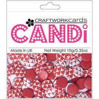 Craftwork Cards Candi Dot Printed Embellishments .35oz-Cherry Red