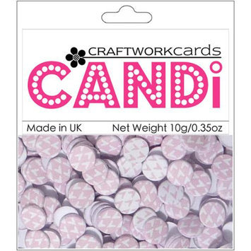 Craftwork Cards Candi Dot Printed Embellishments .35oz-Candy Floss