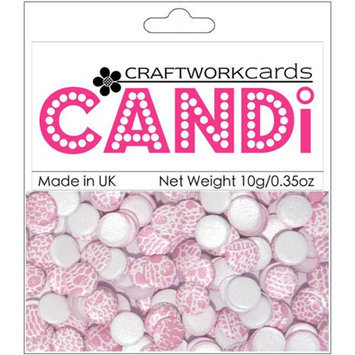Craftwork Cards Candi Dot Printed Embellishments .35oz-Champagne