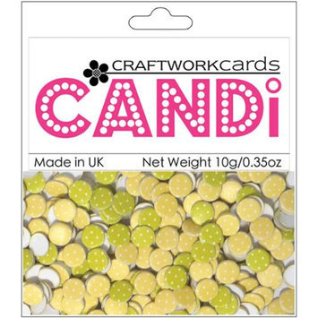 Craftwork Cards Candi Dot Printed Embellishments .35oz-Citrus Burst