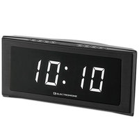 Electrohome Jumbo Alarm Clock Radio with White LEDs
