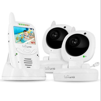 Levana Jena Digital Baby Video Monitor with 8 Hour Rechargeable Battery and T.