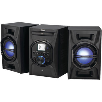 Rca Rs3697bl 40W Cd Mini System With Bluetooth[r] & Multicolored Led Speaker Lights